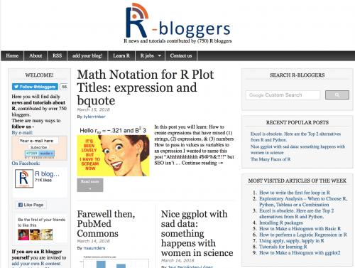 R Bloggers